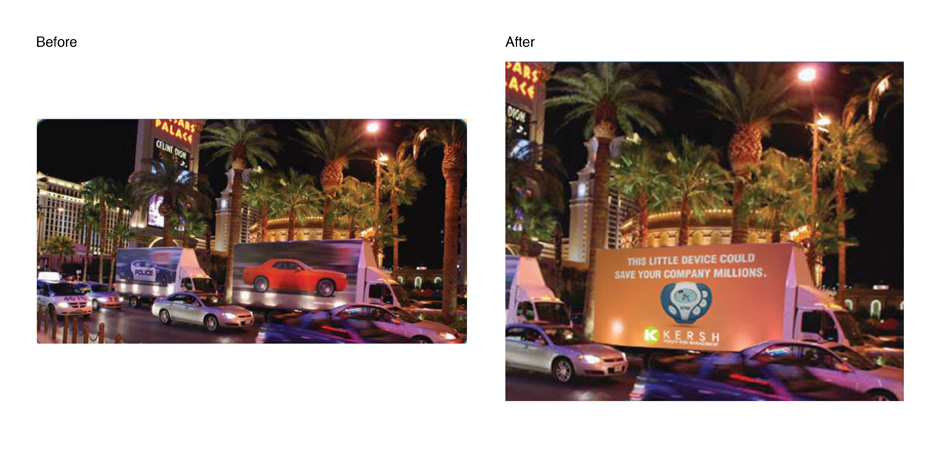 Before and After Truck Billboard