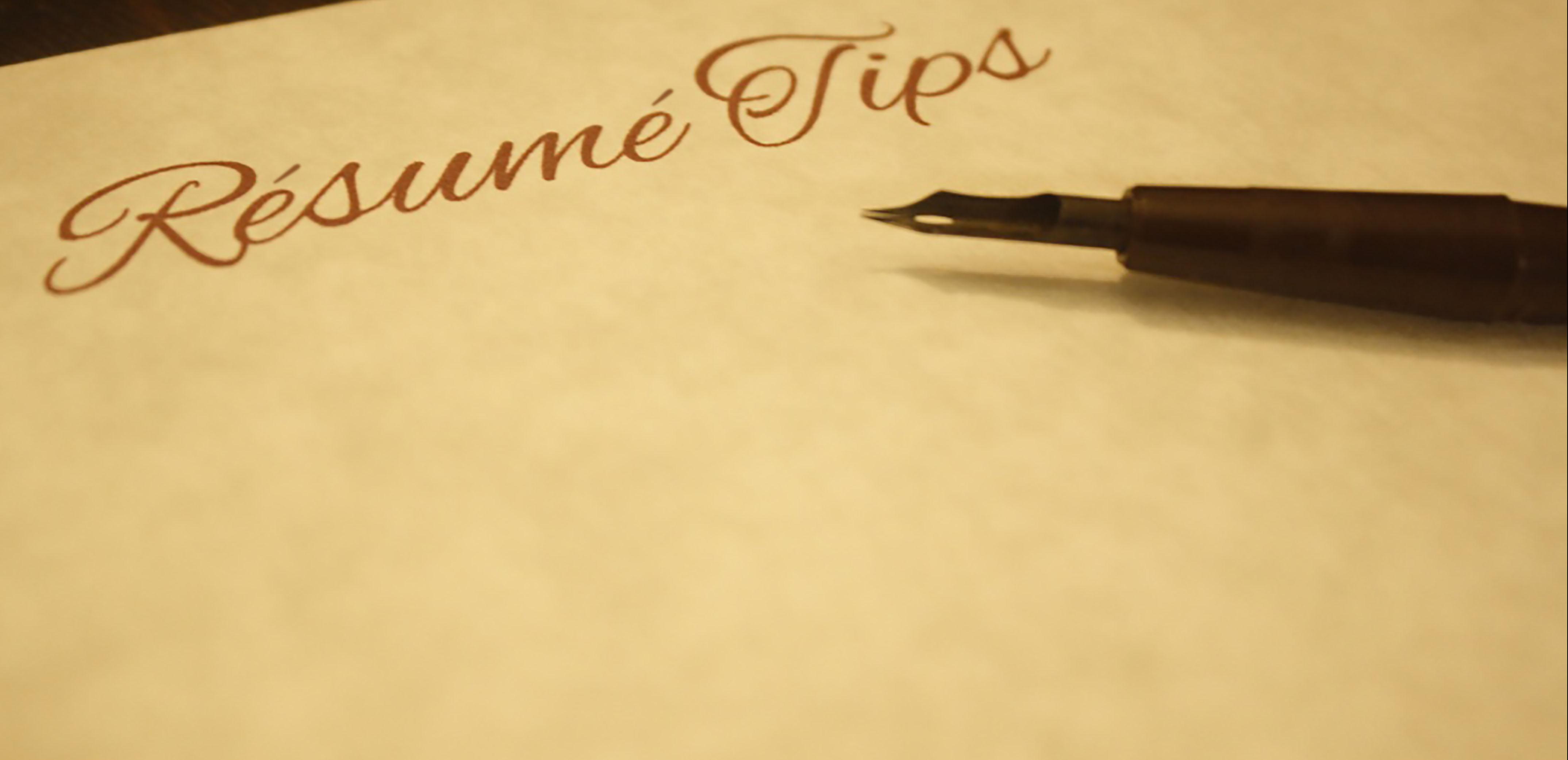 Résumé Tips 2
