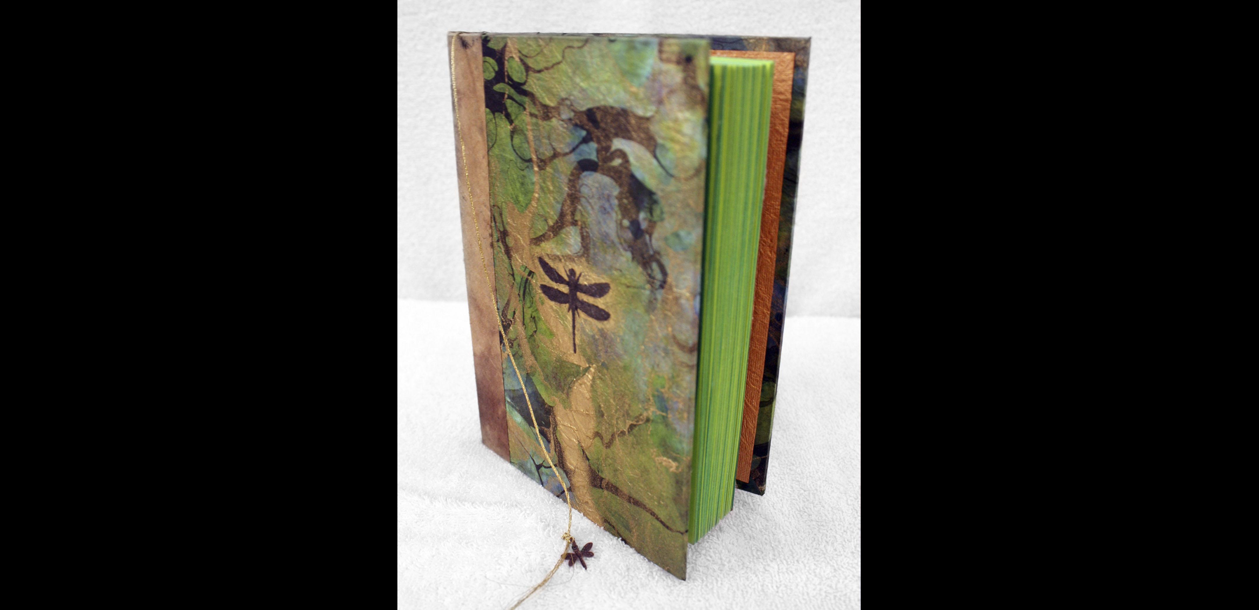 Vertical Green Dragonfly Book