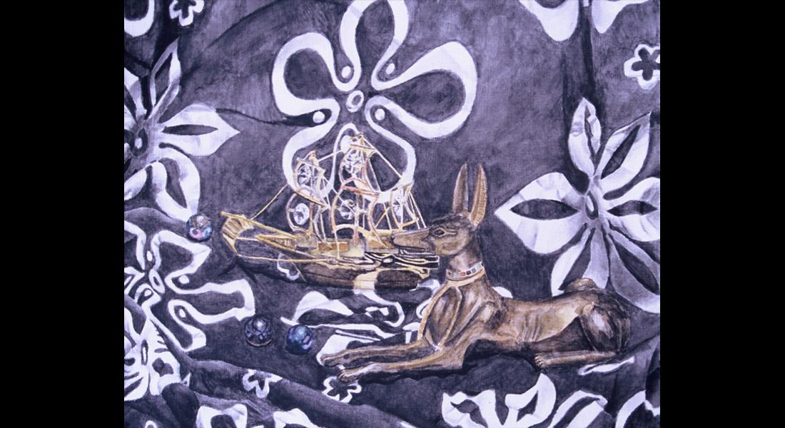 Anubus Still Life Watercolor