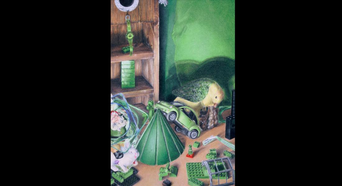 Green Still Life Prisma Color