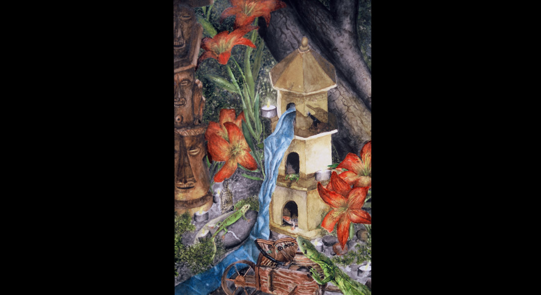 The Lizard Village Watercolor
