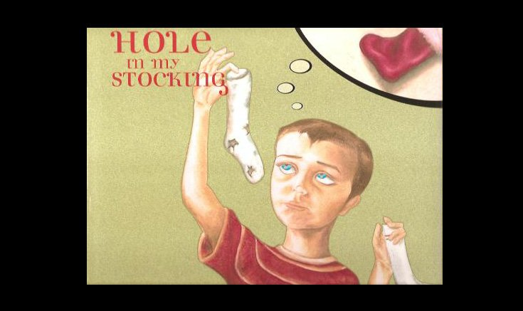 """""""A Hole In My Stocking"""" Book Cover"""